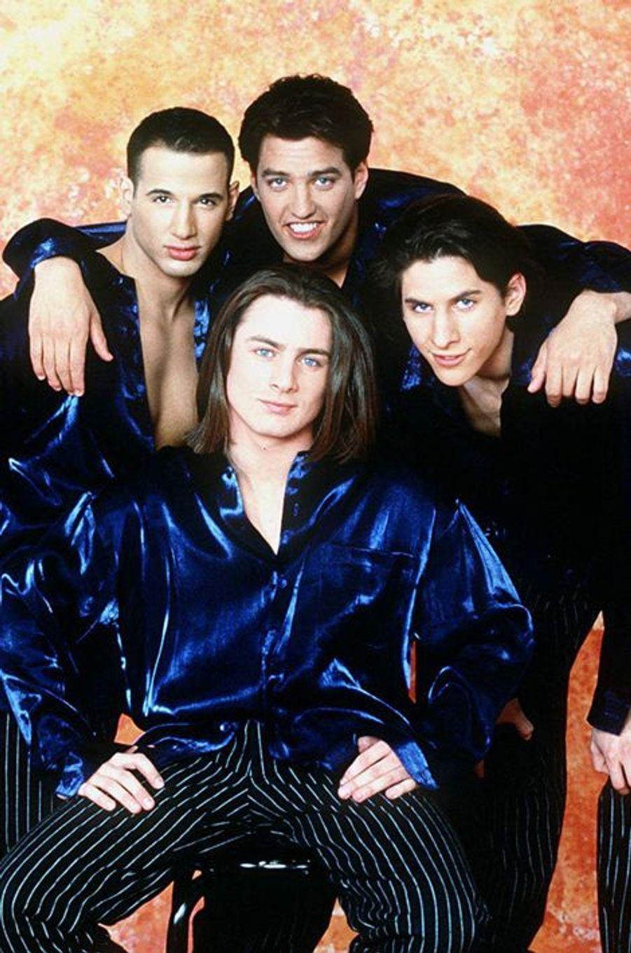 Avec Steven, Brian et Roman en 1997