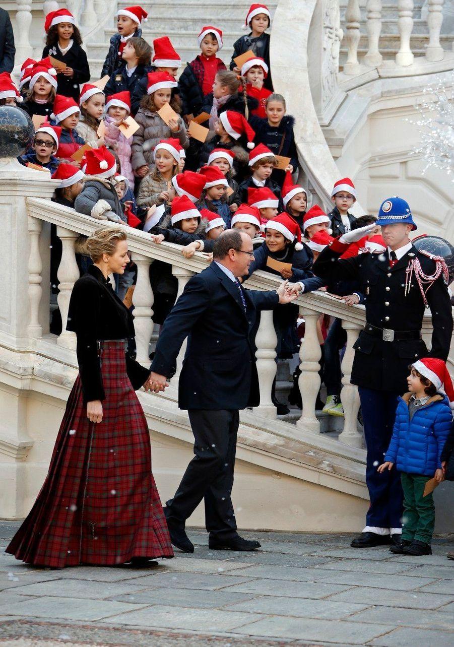 Charlène et Albert, mère et père Noël de Monaco