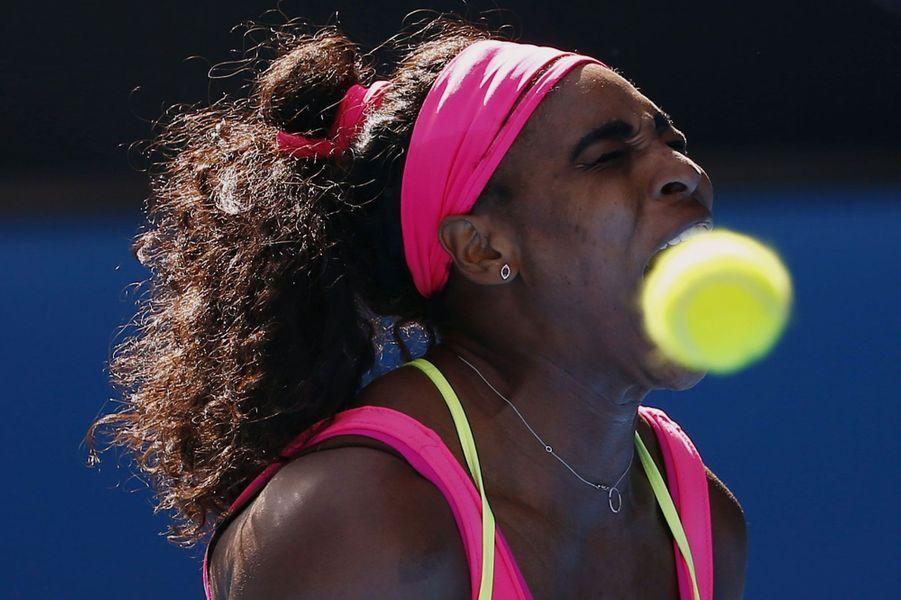 Coulisses, à-côtés, images surprenantes, Paris Match vous propose de découvrir le meilleur de l'actualité sportive de la semaine du 26 janvier au 1er février.Serena Williams grimace face à sa compatriote Madison Keys , en demi-finale de l'Open d'Australie.