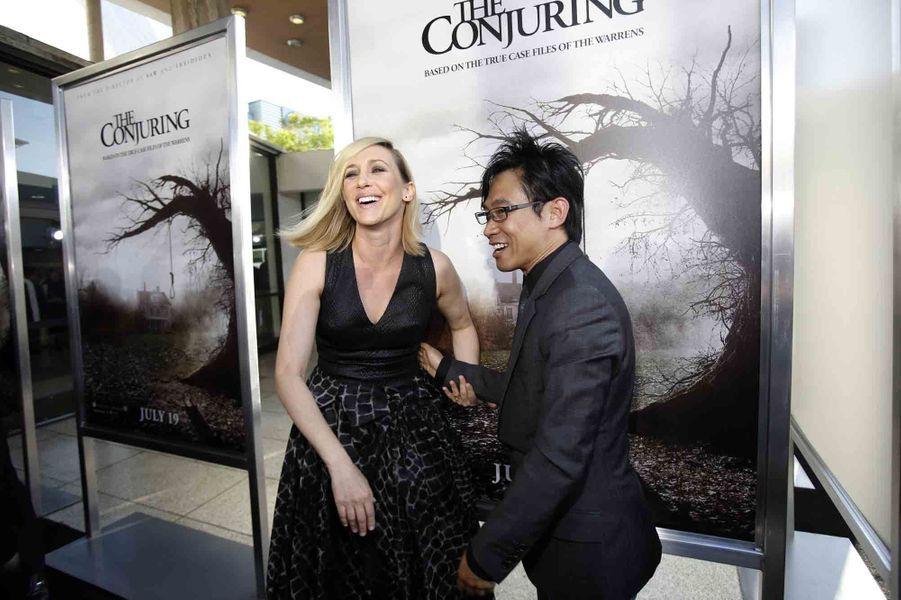 Vera Farmiga et le réalisateur James Wan