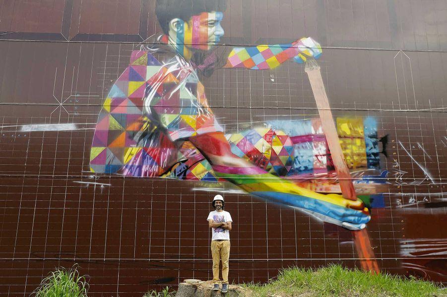 La fresque s'étale sur une superficie de 5742 m2.