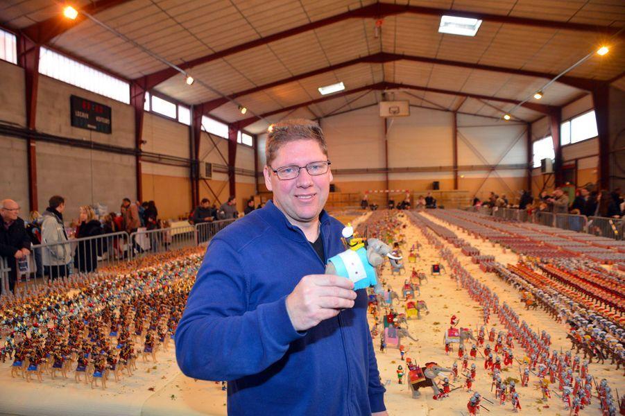 Jean-Michel Leuillier a reconstitué la bataille de Zama avec des Playmobil