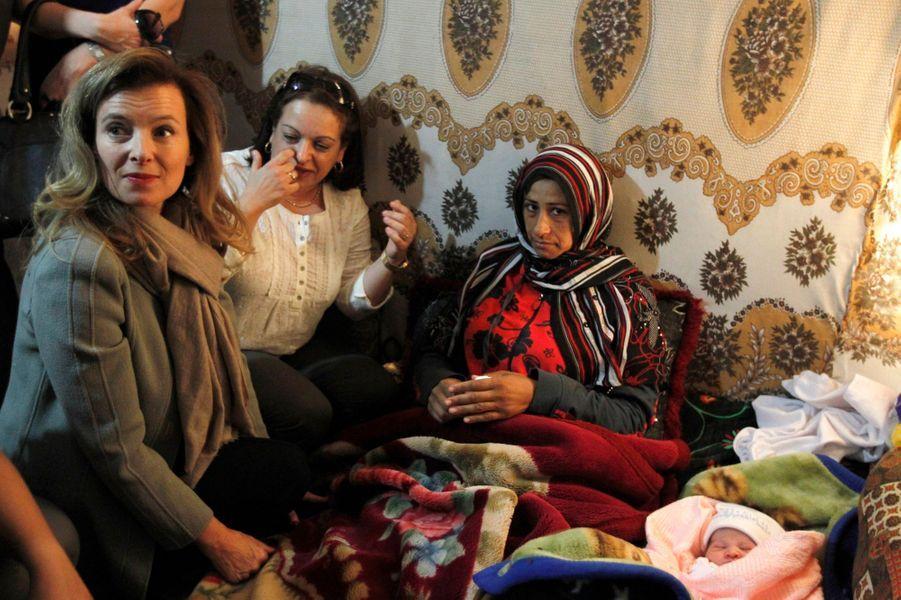 Valérie Trierweiler auprès des réfugiés syriens
