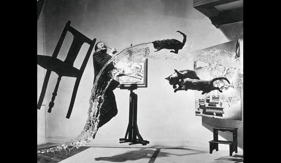 « Dali Atomicus », la célèbre photo du maître prise en 1948 par son ami le photographe Philippe Halsman.