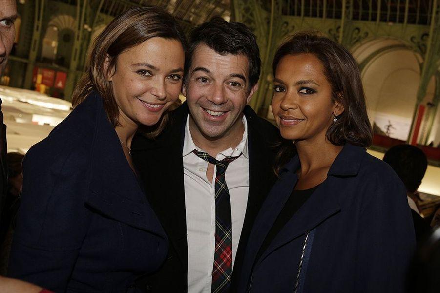 Sandrine Quétier, Stéphane Plaza et Karine Le Marchand à Paris le 22 octobre 2014