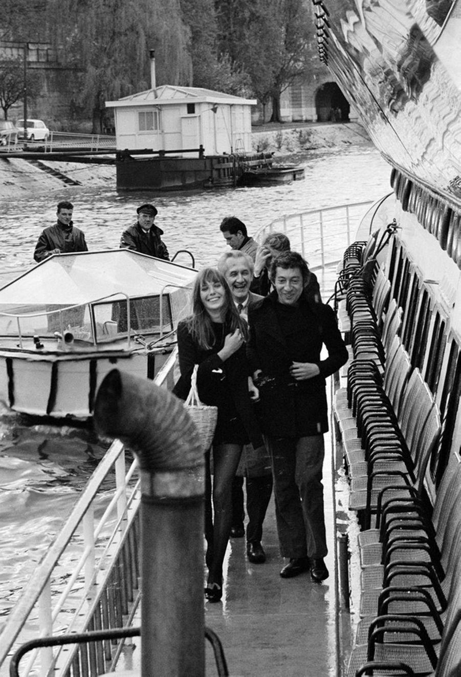 Jane Birkin et Serge Gainsbourg. Paris. 1969.