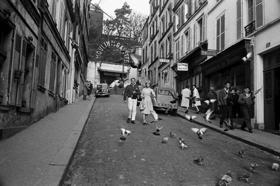 Paul Newman et Joanne Woodward. Paris. 1960.