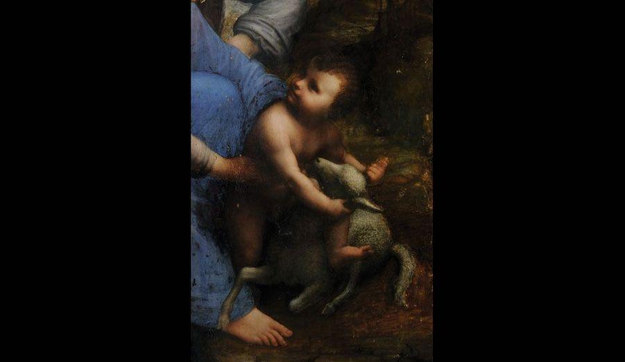 Les couches de vernis ont été enlevées : le visage de Jésus réapparaît tel que Léonard de Vinci l'a peint.