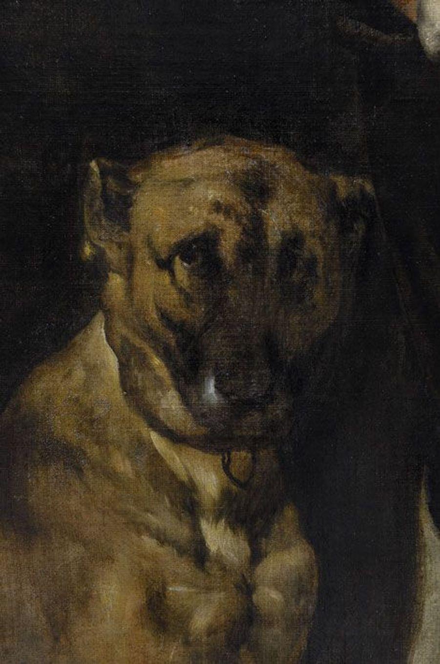 Sous son pinceau, même Philippe IV est un sujet comme les autres. On a longtemps cru que ce portrait du roi en chasseur provenait de l'atelier de Velazquez. Mais la qualité d'exécution du gant et du chien a permis aux experts de conclure qu'il s'agissait bien d'un original. Les radios ont démontré l'existence d'un «repentir» au niveau du col: Velazquez lui a ajouté des dentelles. Sautant l'étape des esquisses, le peintre composait directement sur la toile. Certains tableaux étaient commandés en plusieurs exemplaires; les copies pouvaient alors être réalisées par de talentueux assistants. Les analyses permettent, aujourd'hui, de reconnaître le style – et les tics – du maître.
