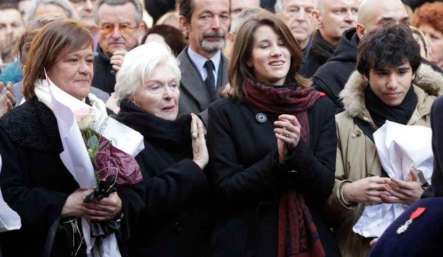 Giulia Salvatori, ses enfants Lola et Renato, et Line Renaud