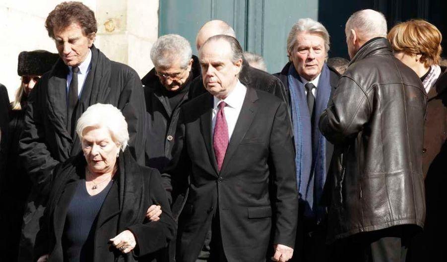 Frédéric Mitterrand, Line Renaud, Jack Lang et Alain Delon.