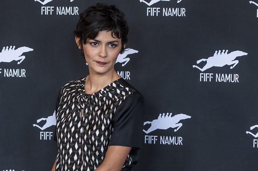 Audrey Tautou au Festival International du Film Francophone à Namur le vendredi 10 octobre 2014