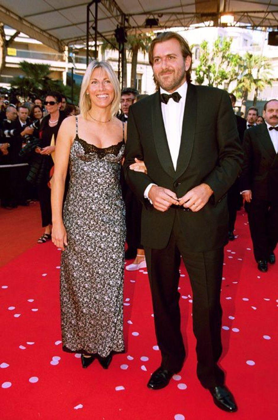 Marie Sara et Christophe Lambert au Festival de Cannes, en 2000.