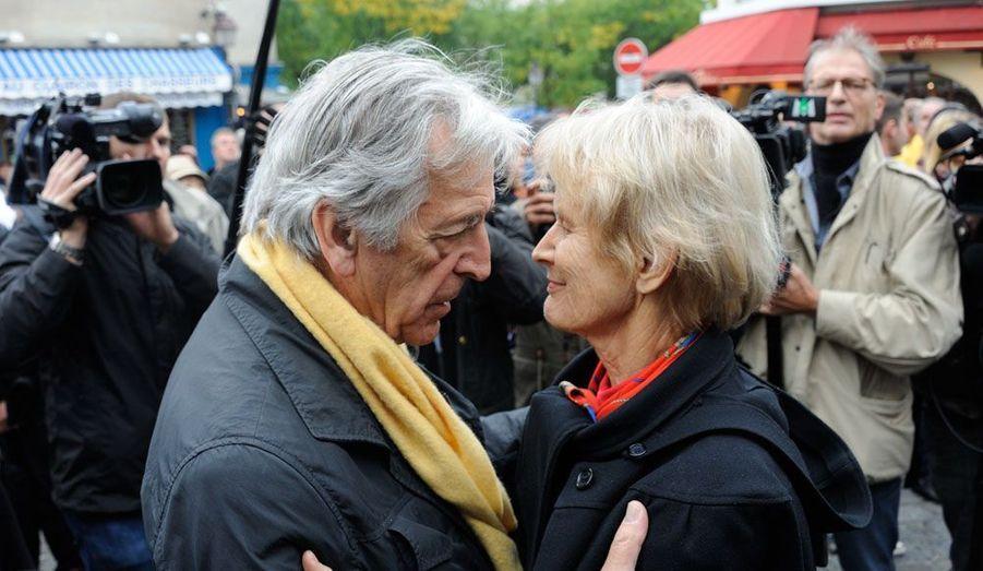 Costa Gavras et la femme de Claude Pinoteau