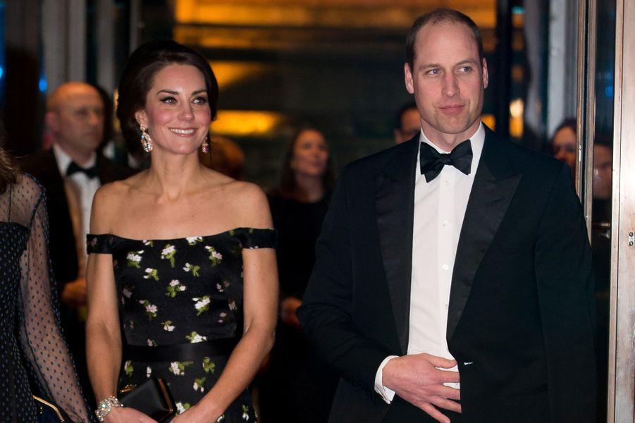 Le prince William et Kate lors de la cérémonie des Baftas.
