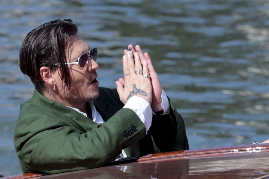 Vendredi 4 septembre : Johnny Depp arrive à la 72ème édition du festival international du film de Venise