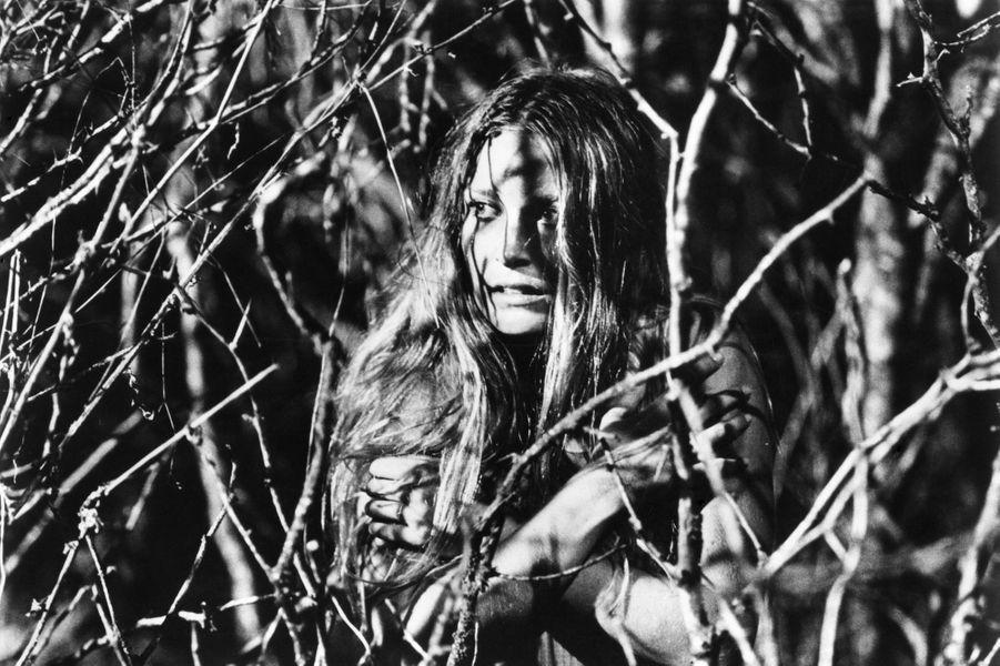 """Marilyn Burns dans """"Massacre à la tronçonneuse"""" en 1974"""