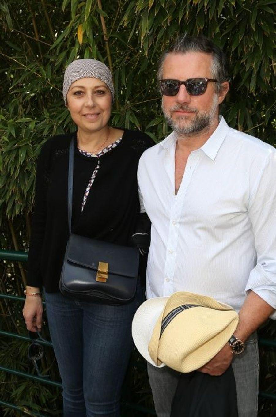 Avec son époux, Eric Wapler à Roland Garros