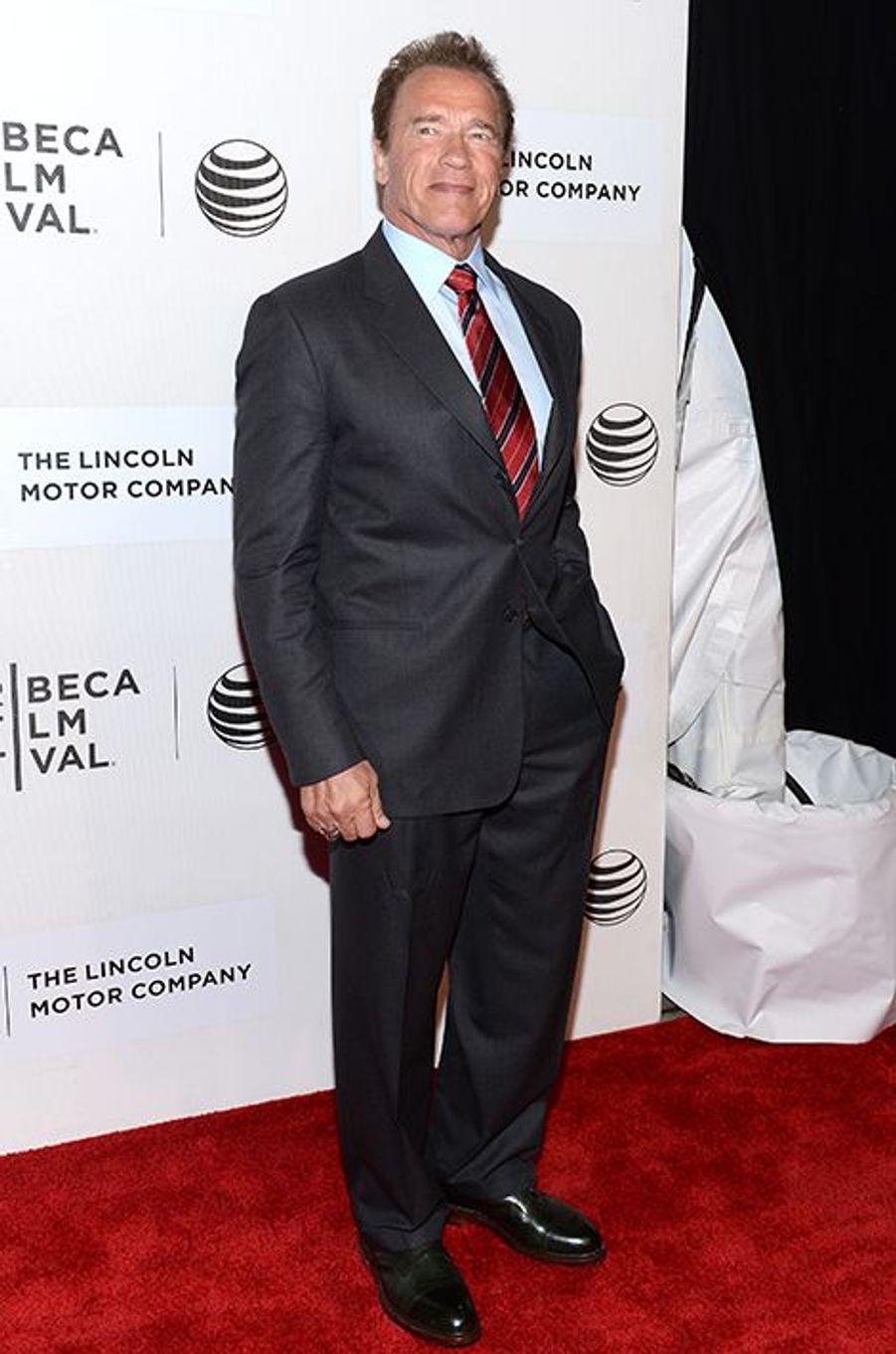 Arnold Schwarzenegger à New York le 22 avril 2015