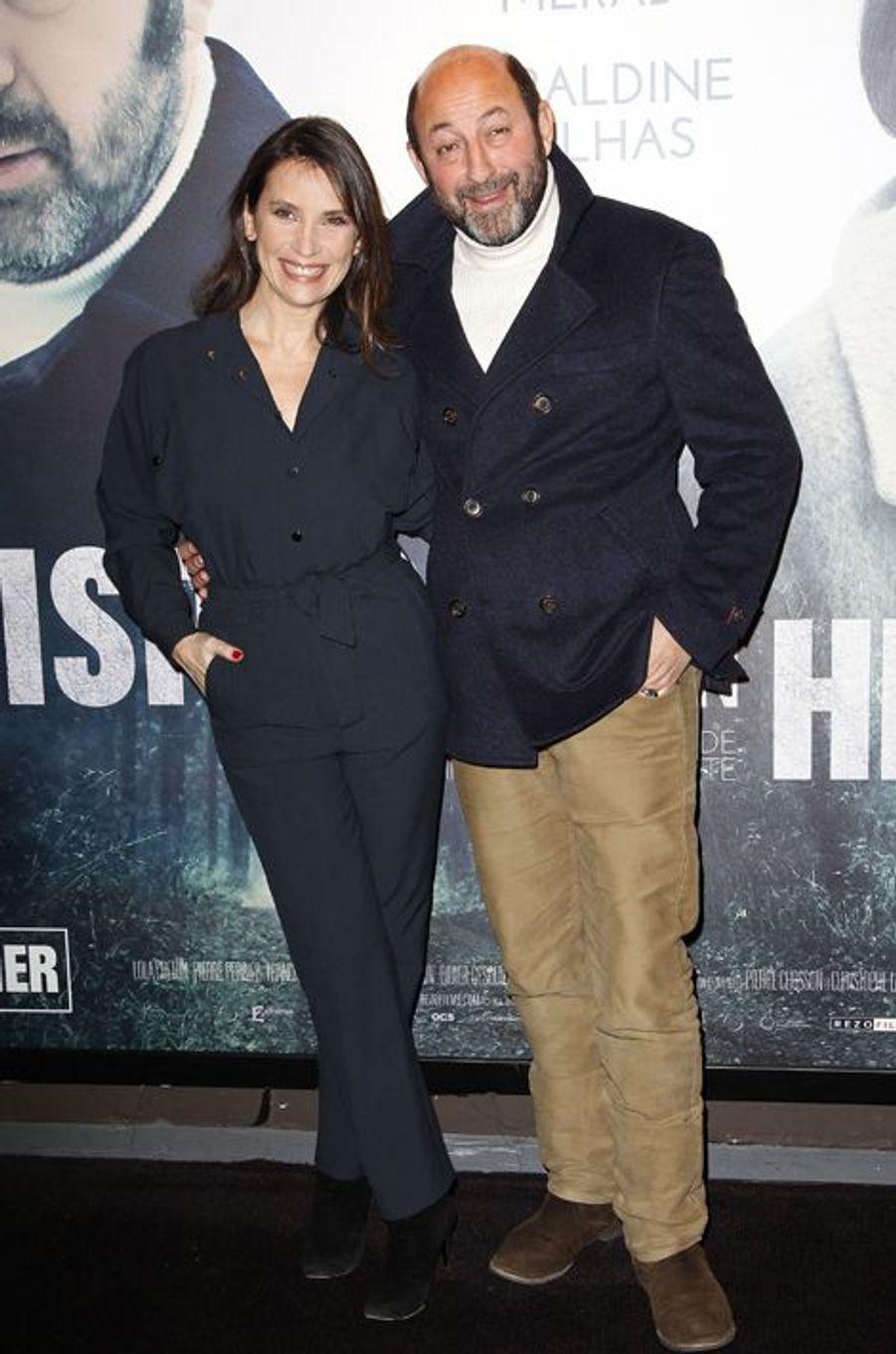 Géraldine Pailhas et Kad Merad à Paris le 20 janvier 2015
