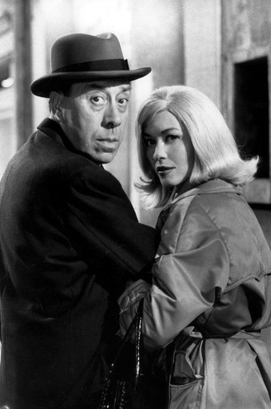 """Hélène Duc et Fernandel, dans """"Le Caïd"""", en 1960"""