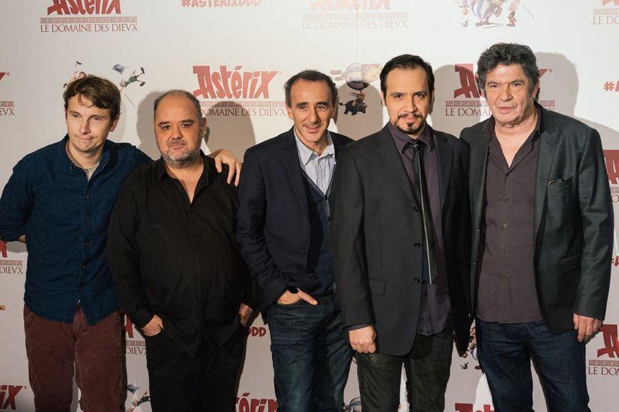 Lorànt Deutsch, Guillaume Briat, Elie Semoun, Alexandre Astier et Lionnel Astier à Paris le 23 novembre 2014