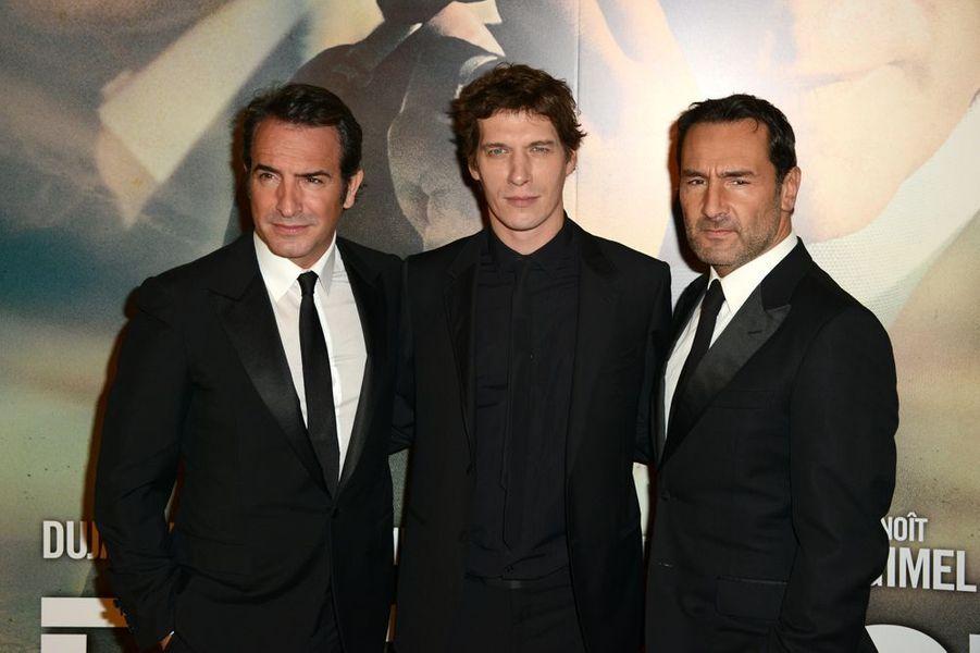 Jean Dujardin, Cédric Jimenez et Gilles Lellouche à Paris le 25 novembre 2014