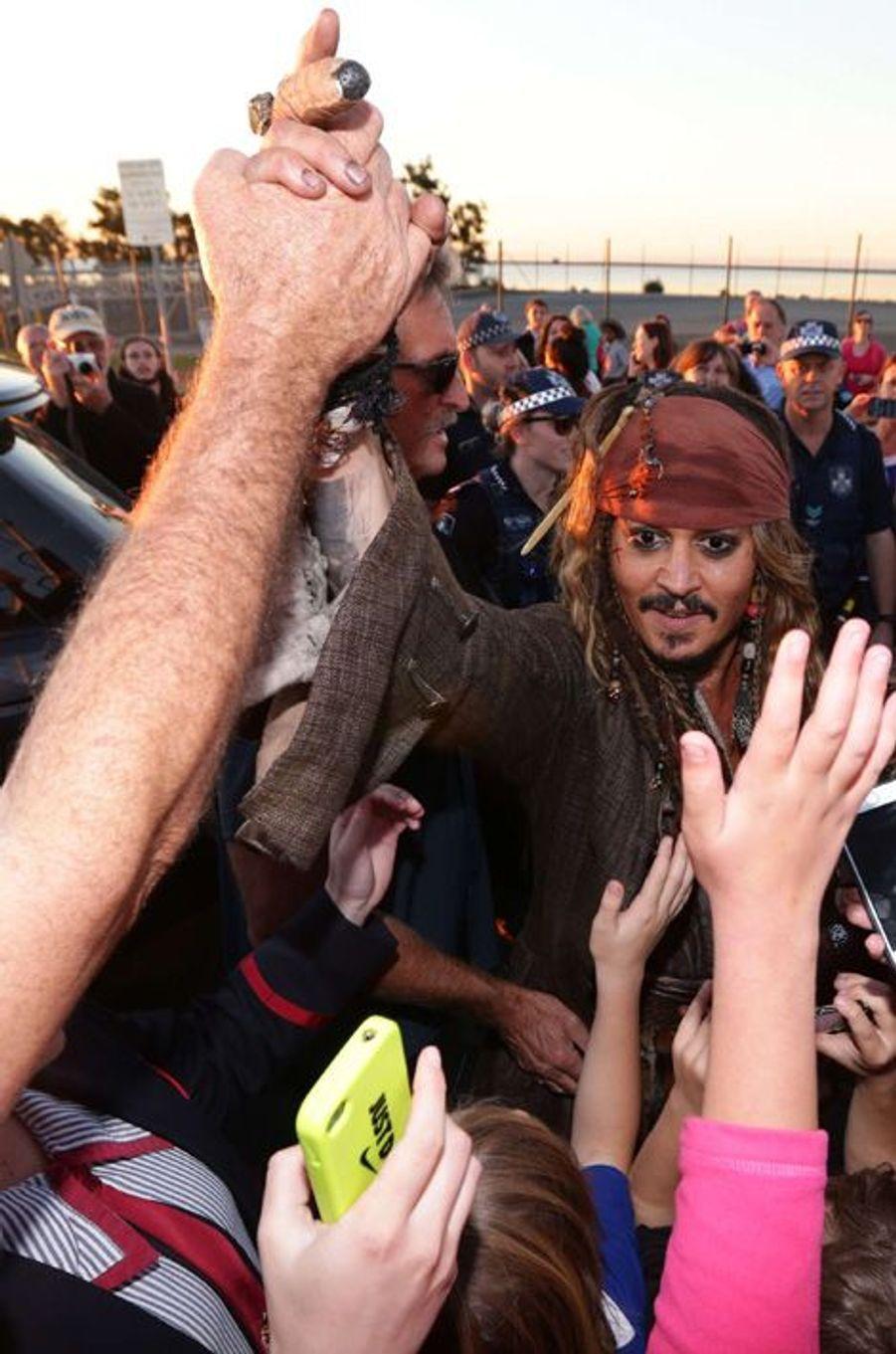 Johnny Depp de retour sur le tournage