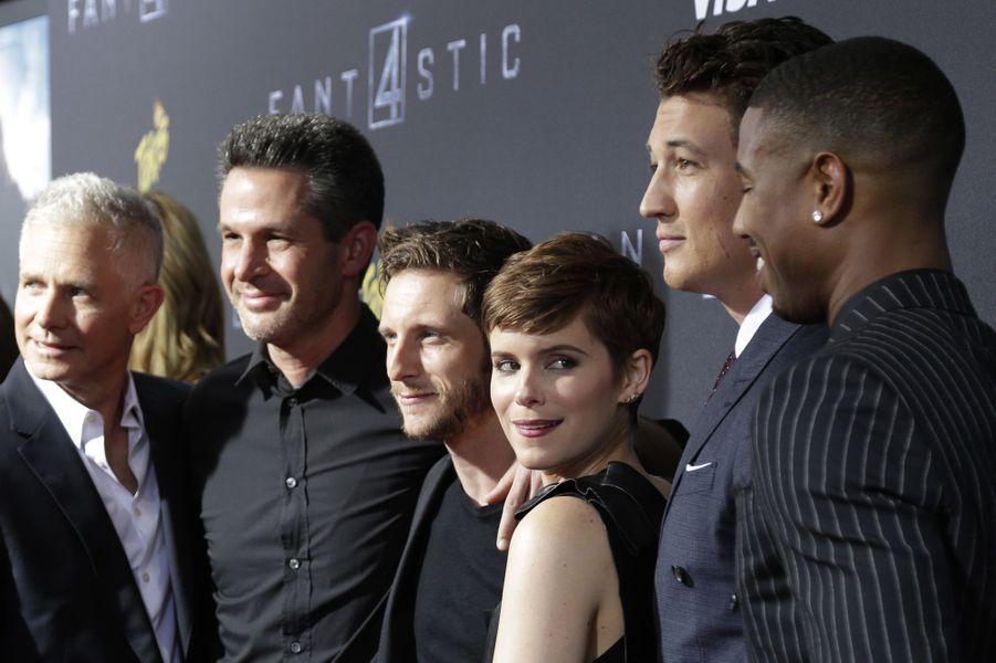 """L'équipe du film """"Les 4 Fantastiques"""" à New York le 4 août 2015"""