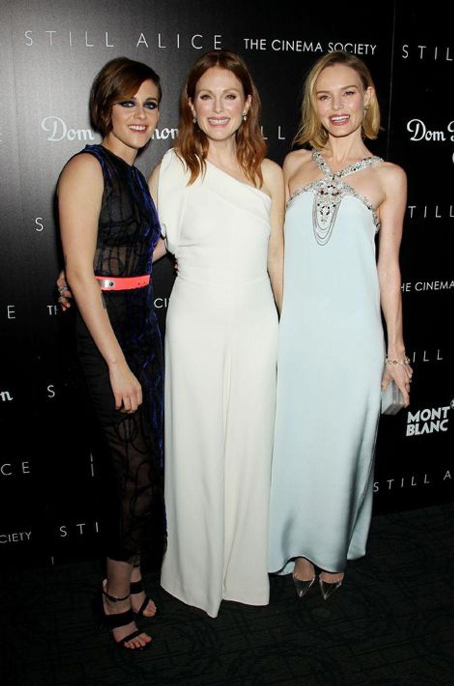Kristen Stewart, Julianne Moore et Kate Bosworth à New York le 13 janvier 2014