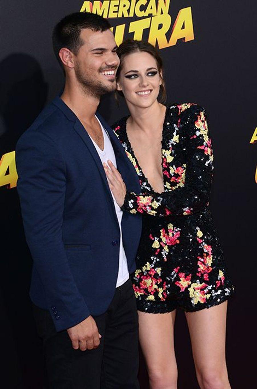 Taylor Lautner et Kirsten Stewart à Los Angeles le 18 août 2015