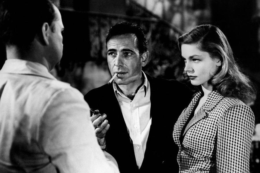 """Humphrey Bogart et Lauren Bacall dans """"Le Port de l'angoisse"""" en 1944"""