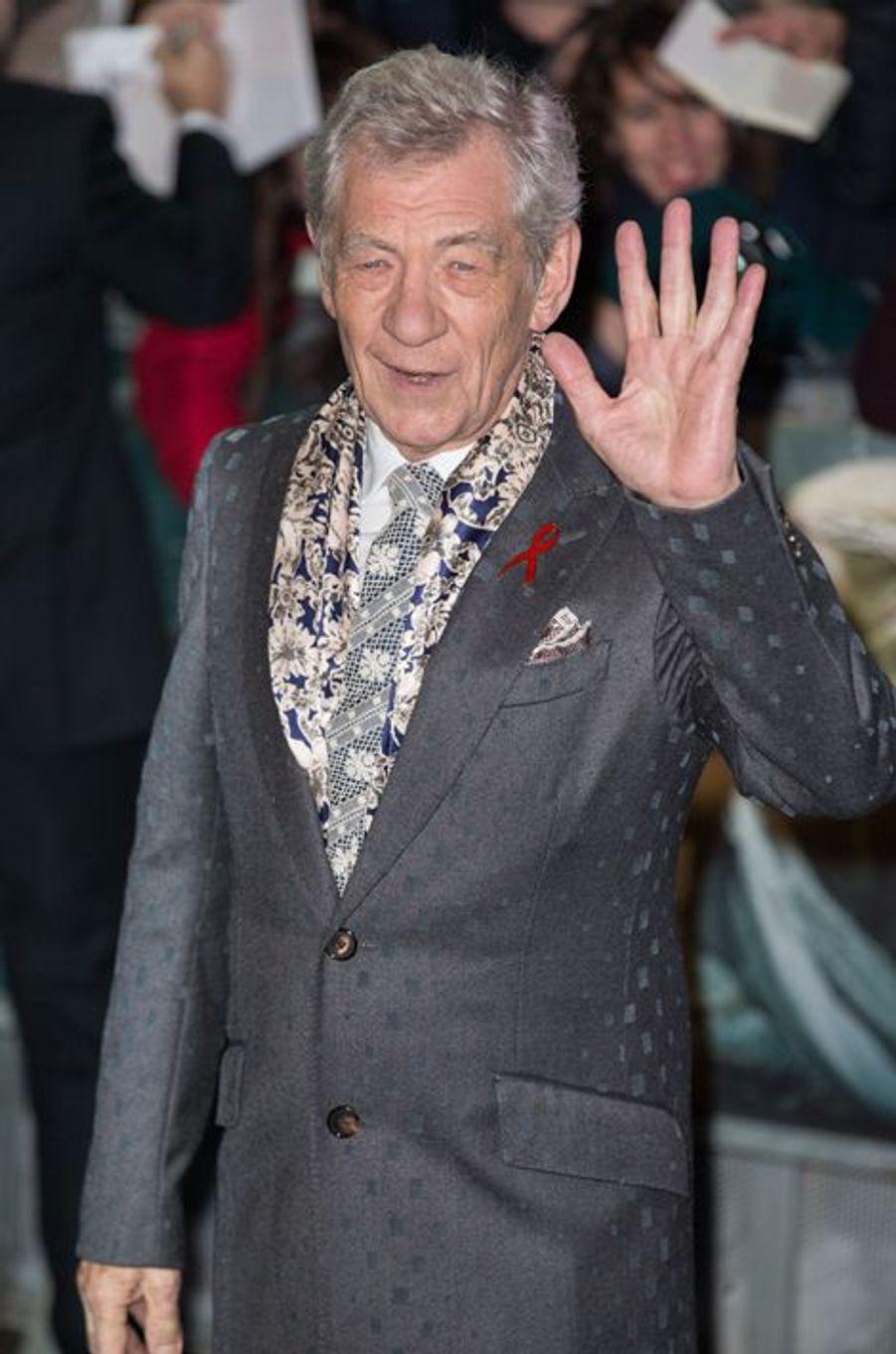 Ian McKellen à Londres le 1er décembre 2014