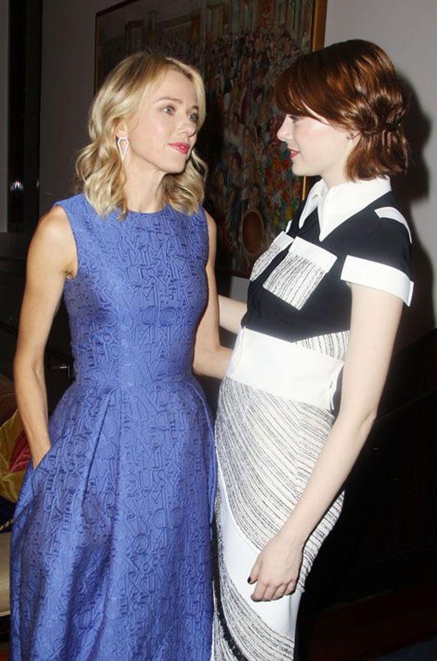 Naomi Watts et Emma Stone