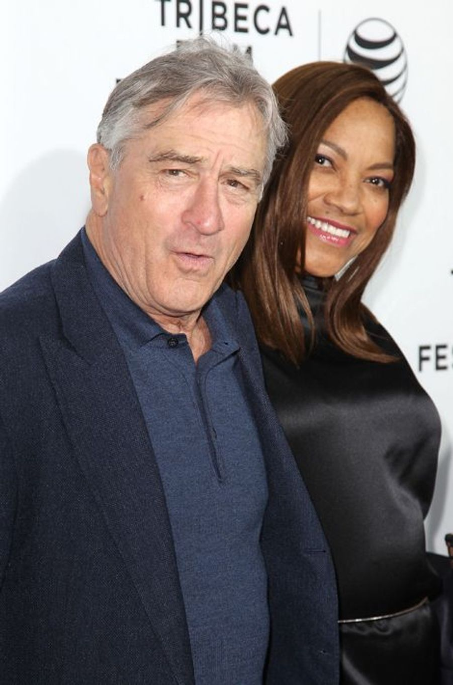 Robert De Niro et son épouse, Grace Hightower, à New York le 15 avril 2015