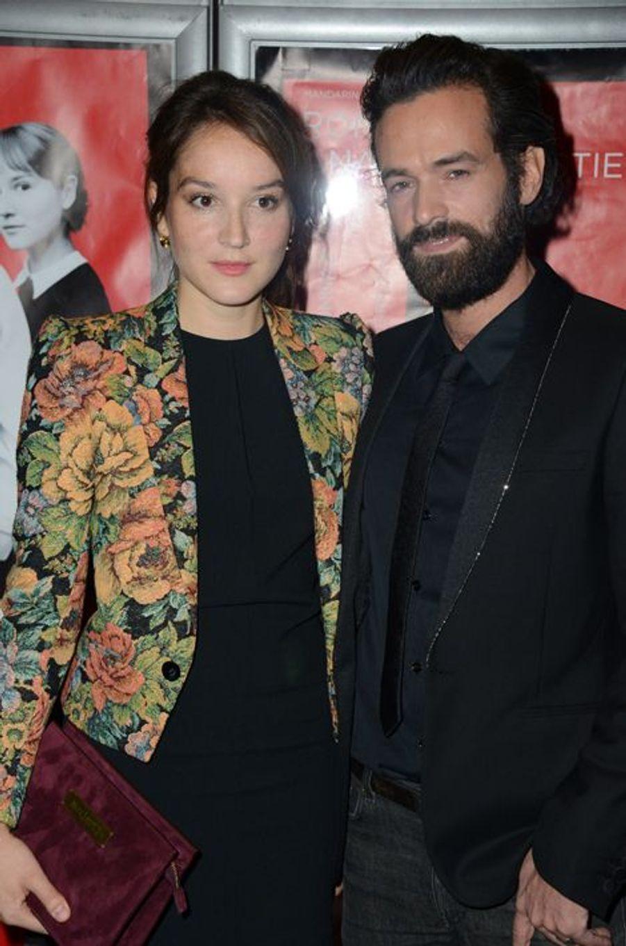 Anaïs Demoustier et Romain Duris à Paris le 3 novembre 2014