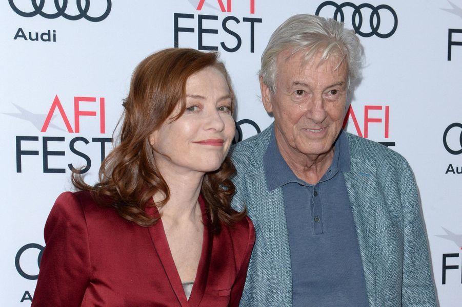 Isabelle Huppert et Paul Verhoeven à l'AFI Fest le 13 novembre 2016.