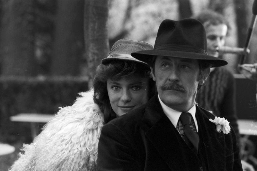 """Tournage du film """"La Grande cuisine"""" de Ted Kotcheff, novembre 1977 : avec Jacqueline Bisset."""