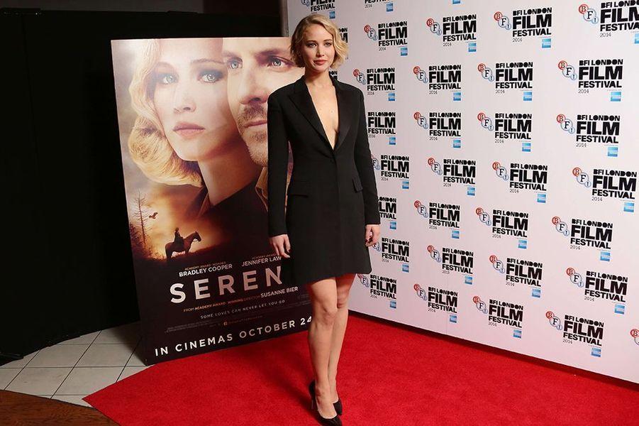 Jennifer Lawrence au Festival du Film de Londres le lundi 13 octobre 2014