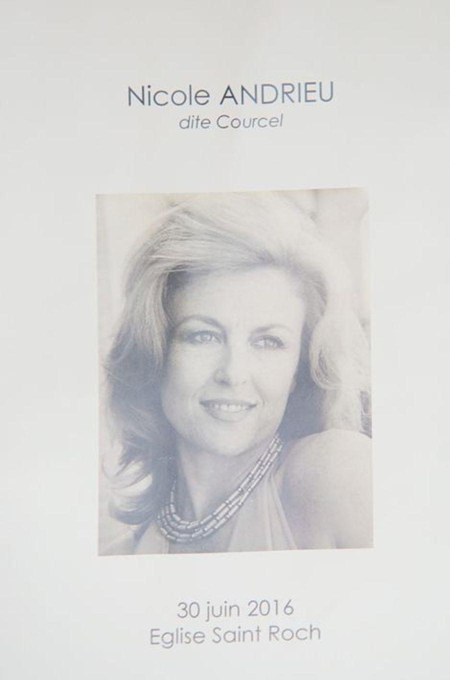 Le dernier adieu à Nicole Courcel
