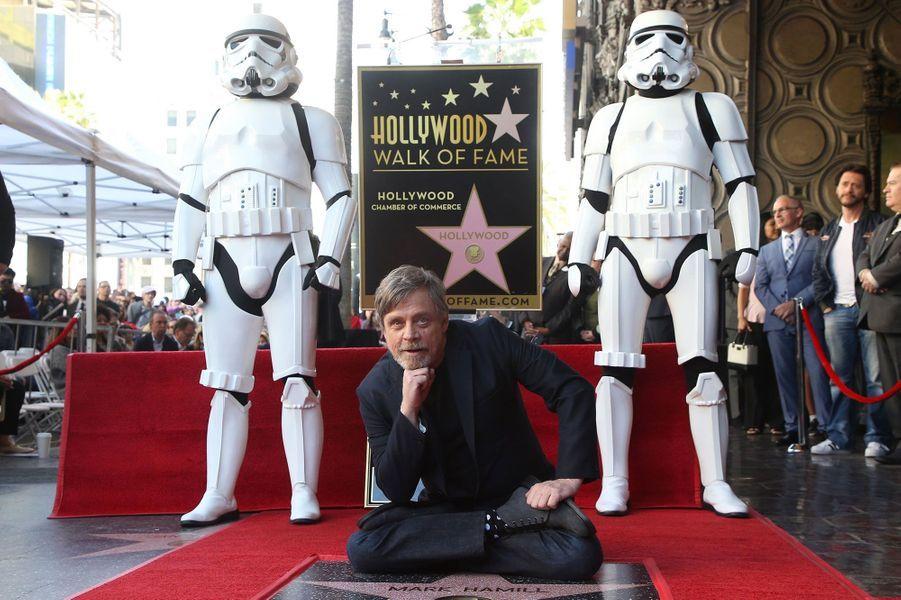 Mark Hamill a inauguré son étoile surHollywood Boulevard