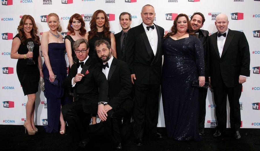 """L'équipe du film """"Mes meilleures amies"""" est venue récupérer le trophée de Meilleure comédie."""