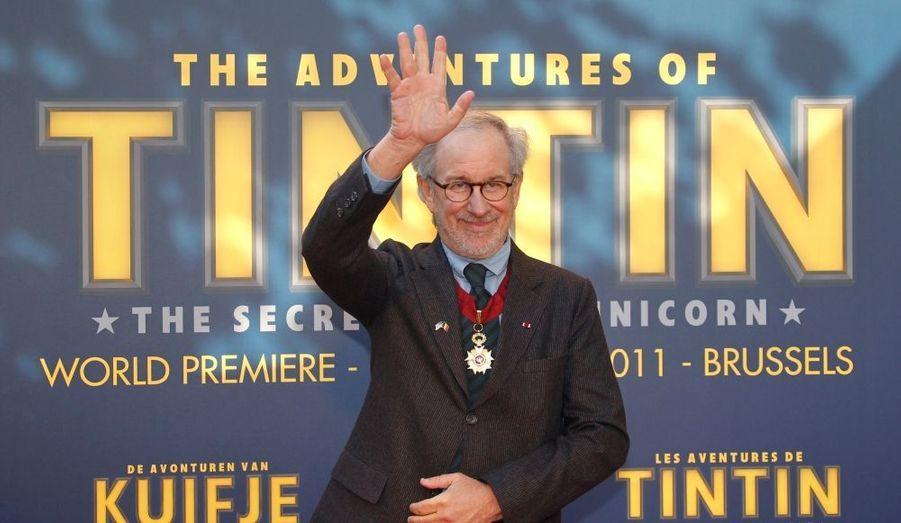 """Steven Spielberg et toute son équipe ont présenté à Bruxelles leur """"Tintin"""". Le film sortira en France mercredi prochain."""