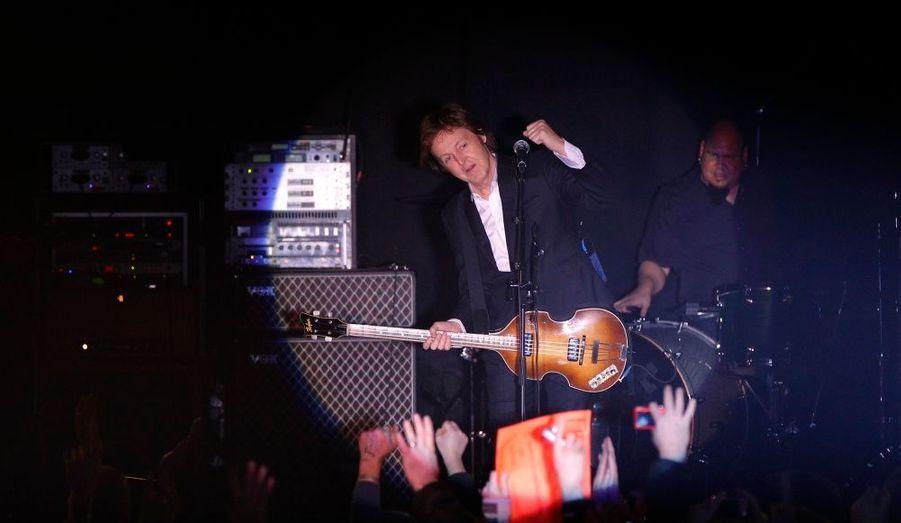 L'ex-Beatles Paul McCartney, en concert à Liverpool le 20 décembre.