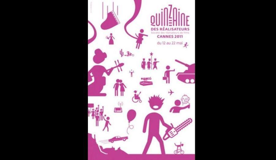 Programme alternatif à la sélection officielle du Festival de Cannes, La Quinzaine des Réalisateurs a déjà son affiche pour l'édition 2011, réalisée par Michel Welfringer, La 64e édition du grand rendez-vous cinéphile se déroulera du 11 au 22 mai prochain.