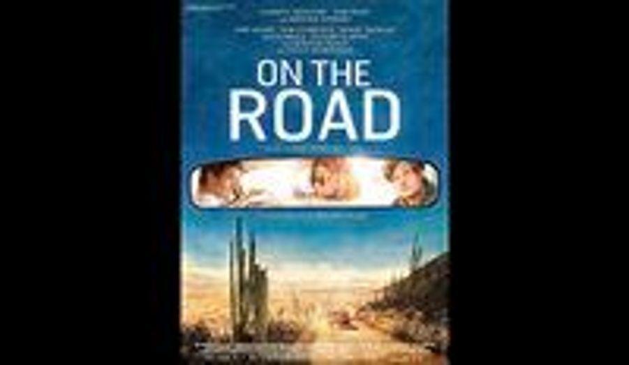"""L'affiche de """"Sur la route"""", l'adaptation de Jack Kerouac par le Brésilien Walter Salles (""""Carnets de voyage"""") a été dévoilée. Suite à une indiscrétion d'un producteur sur Twitter, on connait déjà le lieu de la première mondiale du film: la Croisette et le 65e Festival de Cannes."""
