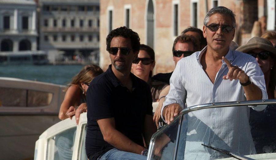 """George Clooney présentera ce soir son dernier film en tant que réalisateur, """"Les Marches du pouvoir"""", en ouverture du Festival de Venise. Séparé d'Elisabetta Canalis, le célibataire le plus célèbre d'Hollywood est déjà dans la Cité du Doge."""