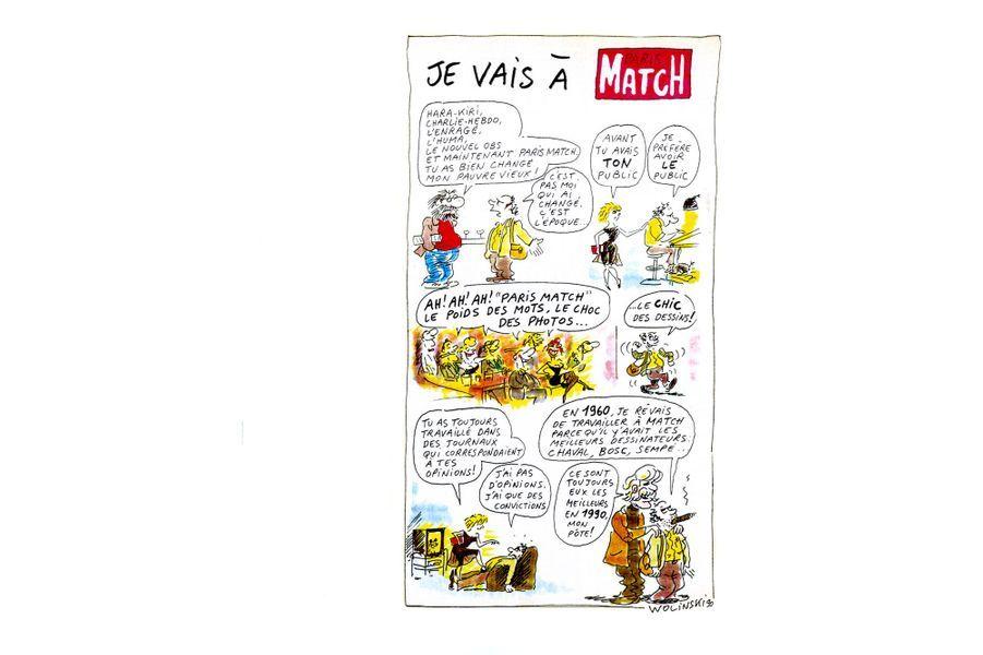 N°2163, 8 novembre 1990, son premier dessin pour Match