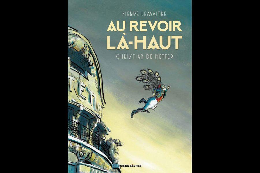 En 2013, le jury Goncourt couronnait Pierre Lemaître, auteur de polars, pour sa première échappée du genre avec le très beau « Au revoir là-haut ». Un écrivain qui, une fois n'est pas coutume, plutôt que de se regarder le nombril germanopratin, racontait une histoire passion- nante : celle d'Edouard Péricourt, gueule cassée de la der des der qui, avec son ami le comptable Albert Maillard, décide de monter une escroquerie aux monuments aux morts pour se venger de tous les profiteurs de guerre. S'attaquer à ce superbe scéna- rio sans nuire ou caricaturer le récit n'était pas chose aisée. Mission accomplie pour Christian De Metter, dessinateur qui a déjà illustré « Shutter Island » de Dennis Lehane et « Piège nuptial » de Douglas Kennedy. Il réussit ici à restituer fidèlement l'atmos- phère du livre, noire, poétique et désenchantée. Une excellente révision avant l'adaptation au cinéma par Albert Dupontel !