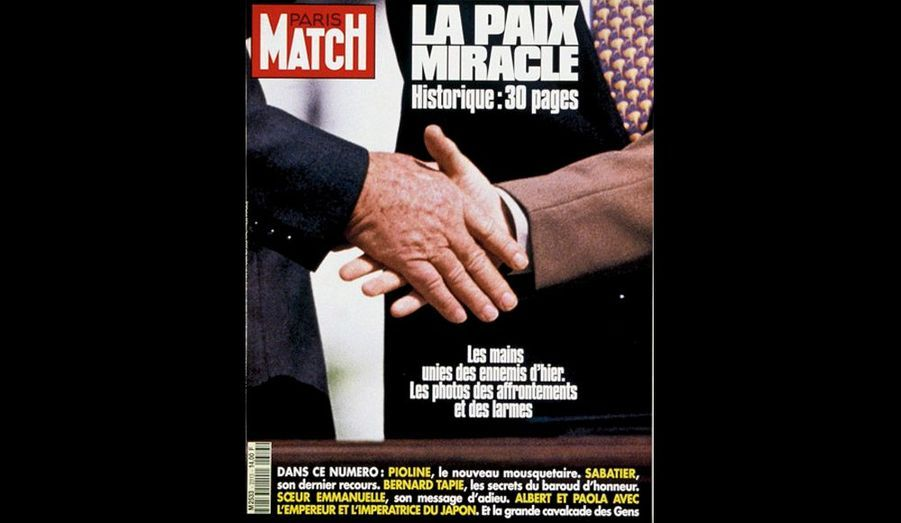 « La poignée de main entre Rabin etArafat ! Une émotion inoubliable. Je m'ensouviens parfaitement. Un espoir étaitpermis. Vingt ans plus tard, le monde entierattend toujours la résolution pacifiste de ceconflit. »